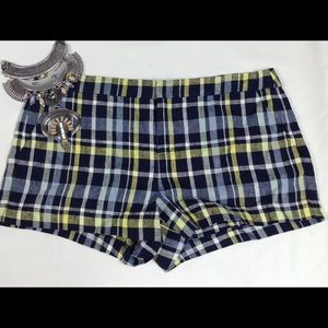 $158 Joie plaid shorts size 12