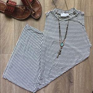 American Threads Dresses & Skirts - American Threads - Stripe Mock Neck Body-con