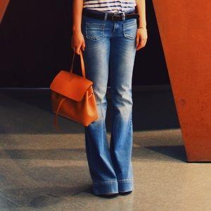 Zara light wash flare jeans