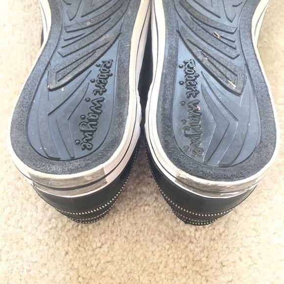 Robert Wayne Shoes - Robert Wayne Black Sneakers Men's 12