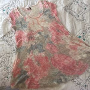 Anthropologie Tops - Anthropologie floral sweater tunic