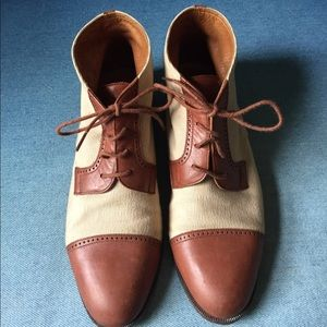 Fratelli Rossetti Shoes - Fratelli Rossetti size 6 booties leather & canvas