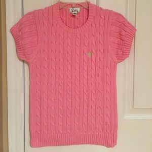  Lilly Pulitzer Pink Short Sleeve Sweater Small