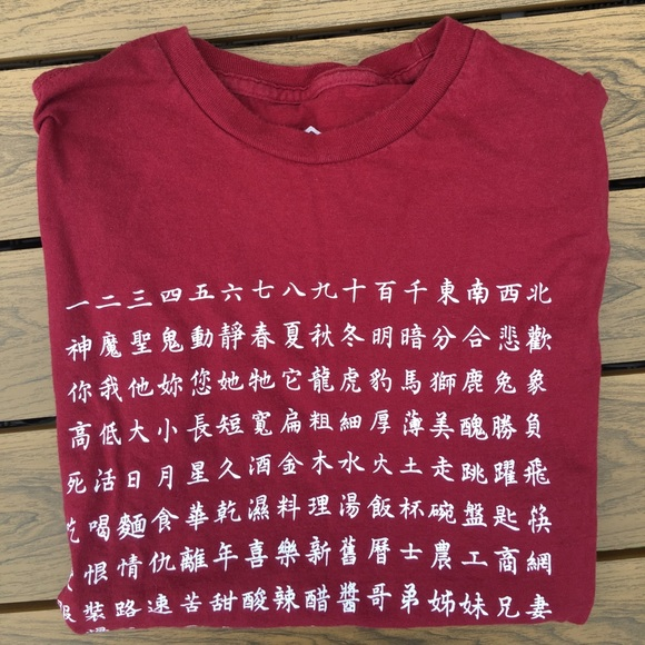 Urban Outfitters Shirts Chinese Character Tshirt Poshmark