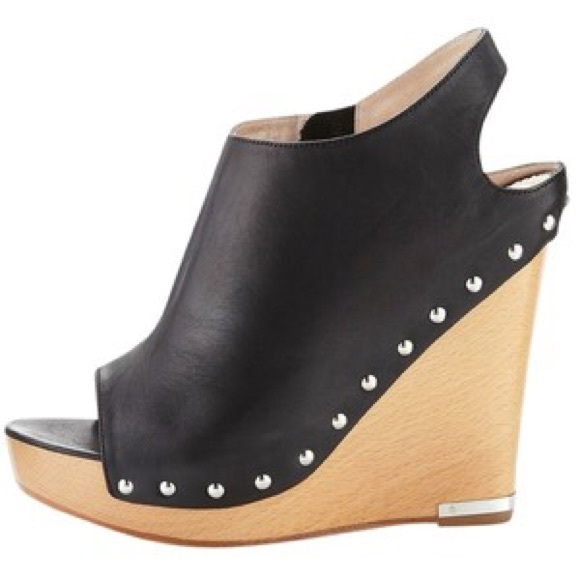 new arrival where to buy cheap real Jean-Michel Cazabat Studded Peep-Toe Wedges qKf3UMfv
