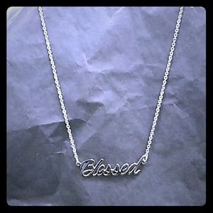 "Jewelry - Stainless steel ""blessed"" necklace"