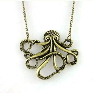 Jewelry - krackin necklace bronze octopus mermaid jewelry​