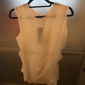 Asilio Tops - S shear white tank with cut outs