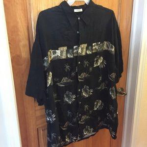 Men's 3X Hawaiian button down casual shirt