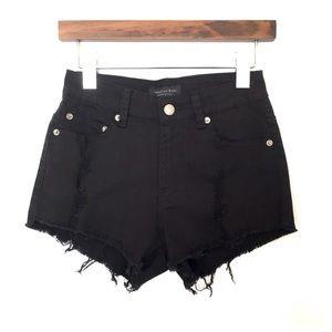 American Bazi Pants - Distressed Black Denim Shorts