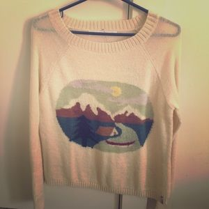 Woolrich Camping Scene Sweater