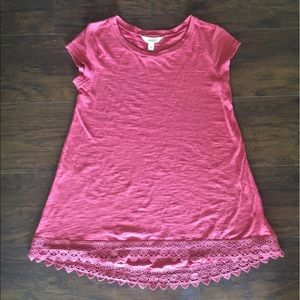 sun and shadow Tops - Cute pink tunic