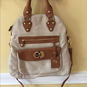 EMMA FOX CONVERTIBLE LEATHER BAG - NEW
