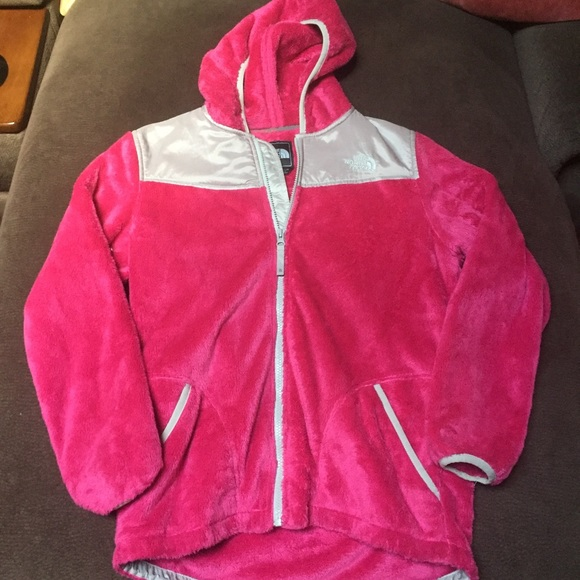 15f9f955b Girls XL Fuzzy Hot Pink North Face Jacket
