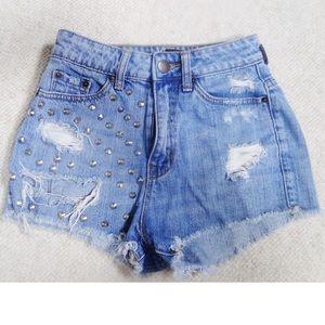 BDG Pants - urban outfitter stud bdg high rise cheeky short 25