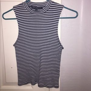 Tops - Striped ribbed crop top