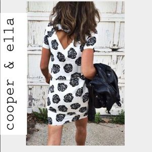 Cooper & Ella Dress Alana open Black & white