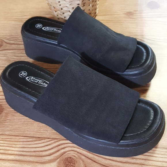 4d730b697263 Lower East Side Shoes - Lower East Side Vintage Elastic Stretch Platform