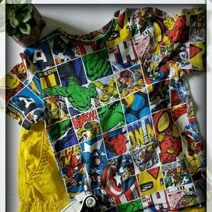 Other - BOY Marvel's shirt with cargo shorts