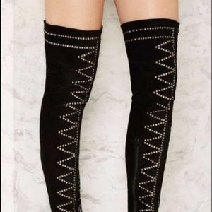 Jeffrey Campbell Cienega Studded Over-Knee Boot