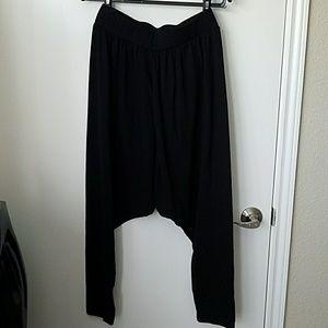 Foreign exchange black drop crotch pants