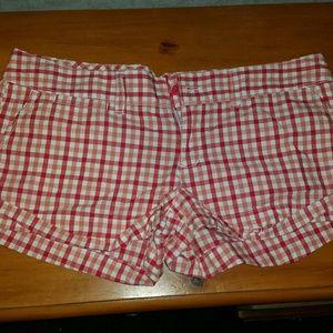 AE cuffed plaid shorts size 12