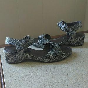 Ara Shoes - Ara Luftpolster Snakeskin Sandals