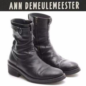 Ann Demeulemeester Shoes - Ann Demeulemeester black leather boots 39.5