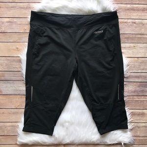 Marmot Pants - Marmot Black Cropped Athletic Pant