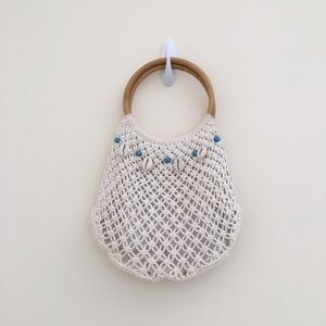 Handbags - Small knit bamboo wrist purse