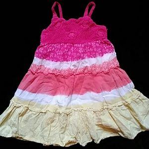 😁IZ Amy Byer sundress with crocheted yoke-size 5