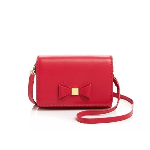 4e288b0f3 Ted Baker red bow crossbody. M 59387c517fab3a8b9e006cf6