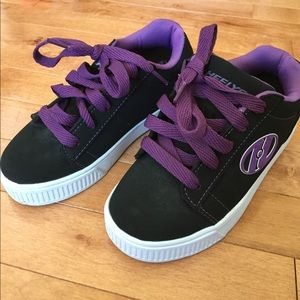 Heelys Other - Youth Size 1 Heelys - Black and Purple - EUC