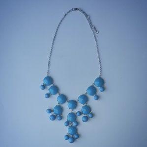 Blue Turquoise Statement Bubble Necklace