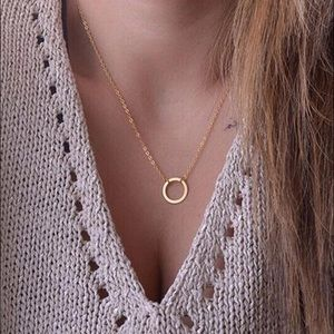 Brandy Melville Jewelry - Gold Circle Necklace