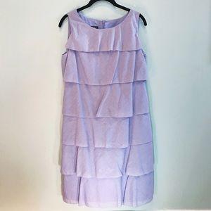 Talbots Blue Ruffle Rumba Shift Dress