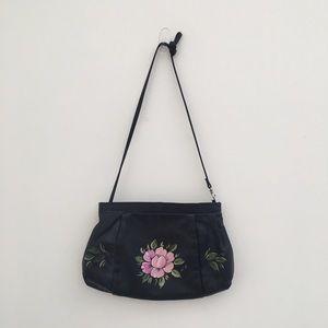 Handbags - Crossbody hand painted leather bag