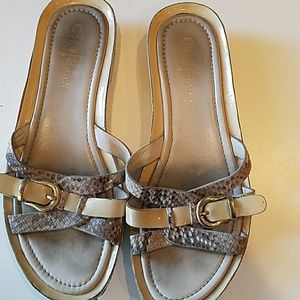 Cole Haan strappy sandals with buckle accent 6 1/2