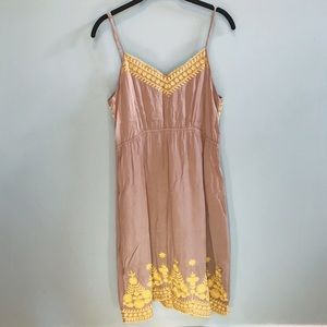 THML Anthropologie Embroidered Sundress