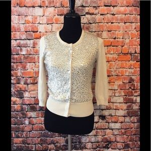 White House Black Market Sweaters - WHBM Sequin cardigan size S