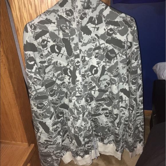 Bape X Kaws >> Bape Sweaters X Kaws Full Zip Hoodie Poshmark