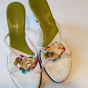 A. Giannetti Shoes - A. Giannetti strappy floral summer kitten heels 7