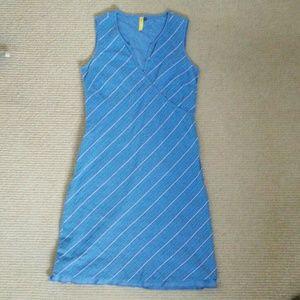 Lole Dresses & Skirts - Blue Lole Dress w Diagonal Stripe Sz S