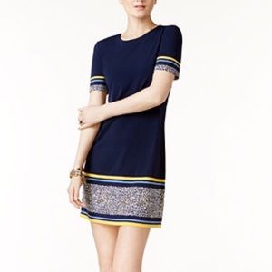 MICHAEL Michael Kors border-print sheath dress.