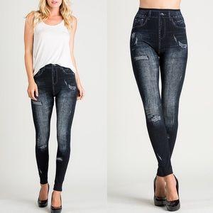 Bellanblue Pants - 🆕Distressed Denim Leggings - BLACK
