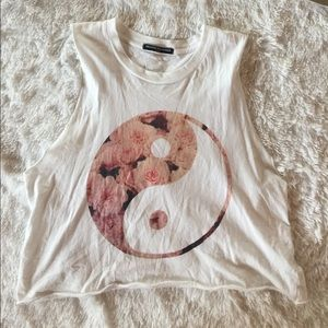 Brandy Melville floral yin yang top
