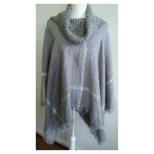 Charming Charlie Sweaters - CHARMING CHARLIE COWL NECK PONCHO SWEATER