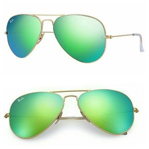 Ray-Ban Accessories - Ray-Ban Aviator Sunglasses Green Flash XL 62 mm