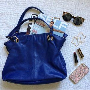 Forever 21 Handbags - Faux Leather Electric Blue Handbag