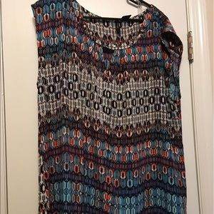 new directions Tops - NWOT New Directions Tribal Print Sleeveless Blouse